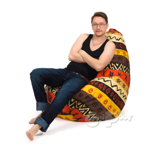 Кресло Груша Жаккард Африка XL