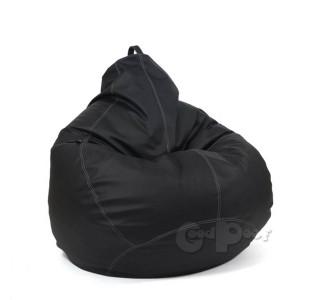 Кресло Груша Кожа Черная XXL