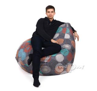 Кресло Груша Жаккард Рингс XL