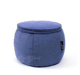 Бескаркасный Пуф Руббер Blue Lava