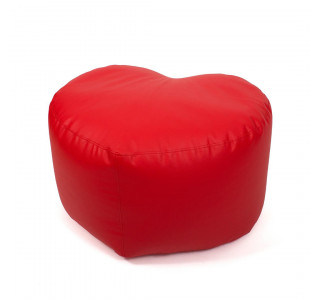 Бескаркасный Пуф Сердце Красный