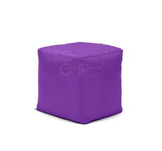 Бескаркасный Пуф Квадро Фиолетовый L
