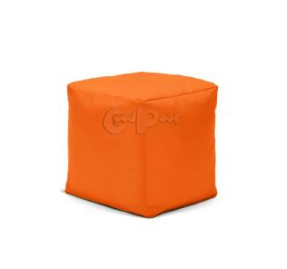 Бескаркасный Пуф Квадро Оранжевый L
