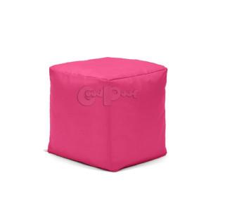 Бескаркасный Пуф Квадро Розовый L