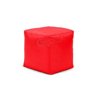 Бескаркасный Пуф Квадро Красный L